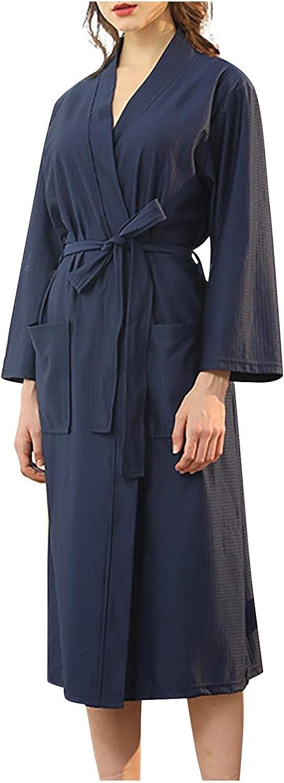 JPLZi Unisex Flannel Robe Terry Cloth Bathrobe Spa Robes Loose Kimono Loungewear Soft Dressing Gown Hotel Robe for Men Women