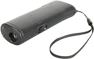 Forepin Ahuyentador de Perros Ultrasonido Entrenador Dispositivo 3 en 1 con Linterna LED Snti-ladrido Portátil con Correa de Muñeca Antiestática para Adiestramiento para Perros - Negro
