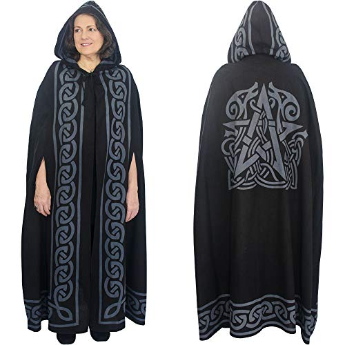 The New Age Source Ritual Cotton Cloak Pentacle Grey
