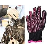 Cozy-TT Guantes profesionales resistentes al calor para el peinado - 1 par de guantes antideslizantes resistentes al calor con puntos de silicona