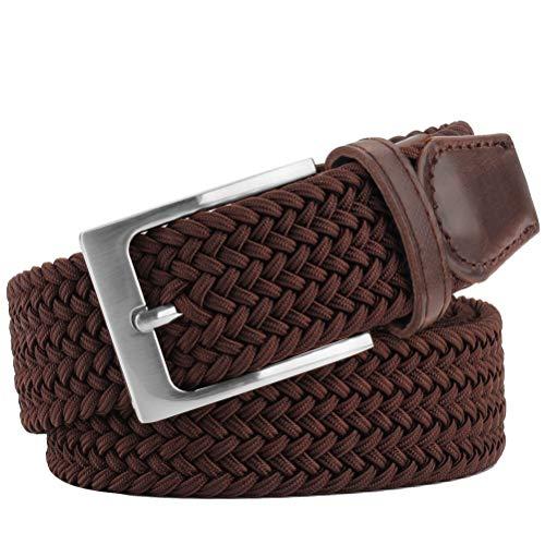 Elastic Brdided Belt, WONDAY Stretch Woven Belt-Fabric Casual Belt for Men and Women