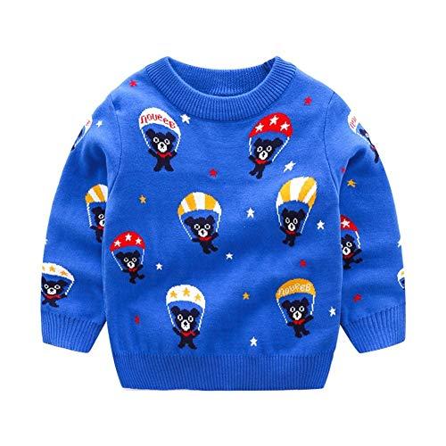 PUJIANGxian Boys' Teddy Pullover van katoen, jacquard en parachute, dubbele trui met zakken