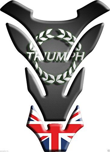 Tankpad Motorad Draht Muster Tankschutz ' Triumph Union Jack DETROIT'' Polymer 3D