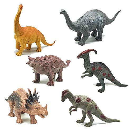 fiouni 6ST Welt Dinosaurier Spielzeug Kunststoff Dinosaurier Pädagogisches Spielzeug für Kinder Geburtstag Party Dekoration (Diplodocus Spielzeugset)
