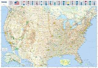 Michelin Map USA Road 13761 (Laminated, Rolled) (Maps/Wall (Michelin))