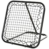 Soozier Angle Adjustable Rebounder Net Goal Training Set Soccer, Baseball, Basketball Daily Training, Black