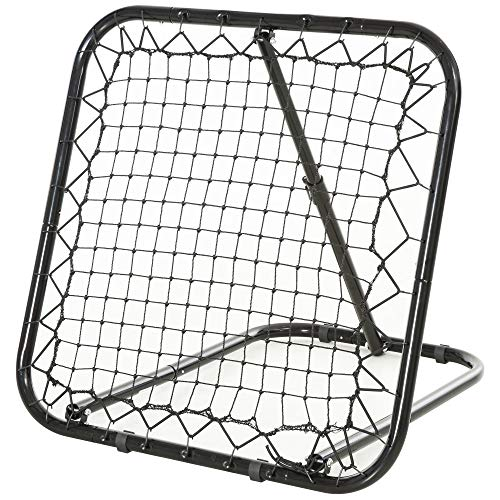 Soozier 3' x 3' Angle Adjustable Soccer Rebounder Goal Net with Quick Folding Design, Portable Training Goal with Sturdy Metal Tube Without Assembly
