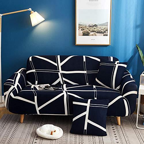 ARTEZXX Sofa Cover 1/2/3 Seater Mode Print Stretch All Inclusive Universele Slipcover met Elastische Band, Wasbare Bank Meubelbescherming Voor woonkamer slaapkamer