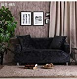 Allenger Funda de Fofá Elástica,Stretch Pattern Sofa Cover, Seat Cover with armrests, Non-Slip Furniture Cover, Machine Washable-Soot_195-230