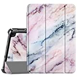 Fintie Slim Case for All-New Kindle Fire HD 8 Tablet and Fire HD 8 Plus Tablet (10th Generation, 2020 Release) - Ultra Lightweight Slim Shell Stand Cover with Auto Wake/Sleep, Marble Pink