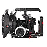 """JTZ DP30 Camera Cage with 15mm Rail Rod Baseplate Rig&Top Handle+4×4"""" Carbon Fiber Matte Box+Follow Focus+Power Supply(LE Version) for Panasonic Lumix GH3 GH4 GH5 GH5s"""