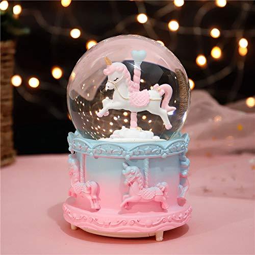 MornBee Schneekugel Geschenk Musikalische Schneekugel für Kinder Mädchen (J)