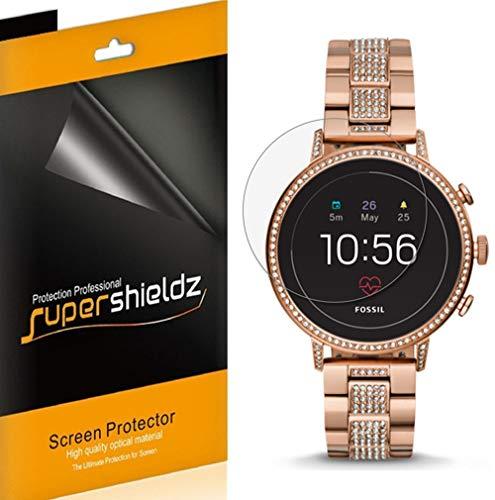 (6 Pack) Supershieldz Designed for Fossil Q Venture HR Gen 4 Smartwatch Screen Protector, High Definition Clear Shield (PET)
