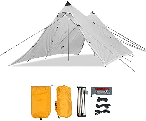WEIFAN CAI- Camping Tents Outdoor Beach Awning Canopy Person, for Outdoor Barbecue Tent, Waterproof Tent 600x300x220cm(19.6x9.8x7.2ft),blanc