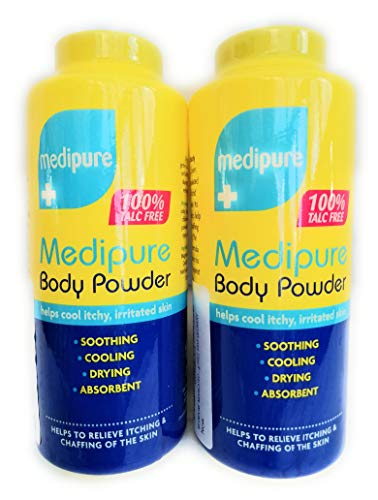 Twin Pack Medipure Medicated Body Powder 100% Talc Free 200g