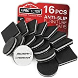 "Non Slip Furniture Pads Premium 16 pcs 2""! Best SelfAdhesive Furniture Grippers – Furniture Stoppers for Furniture Feet - Ideal Furniture Non Slip Pads & Furniture Floor Protectors"