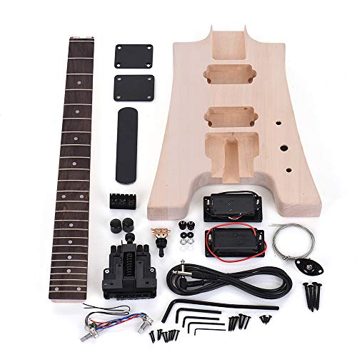 LOIKHGV ammoon Kit de Guitarra eléctrica DIY sin terminar C