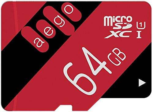 AEGO 5 Pack 64GB Micro SD Card Class 10 Memory Card for Nintendo/Dash Cam/GoPro with Adapter-5 Pack U1 64GB