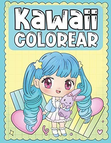 Colorear Kawaii: Libro para Colorear de Tiernos y Amables Personajes Kawaii para Niños de 3 a 9 Años