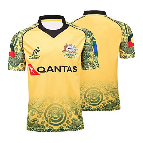 2019-2020 Rugby Jersey, Maori/Südafrika/Chef/Irland WM Short Sleeve Rugby T-Shirt-Polo-Shirts Tops, Männer Schulung Wettbewerb Fußball Jersey Australia-XXL