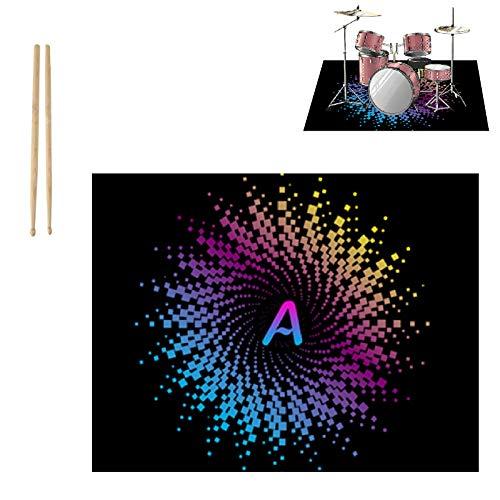 PPGE Home Schlagzeugteppich, Drum Teppich, Schlagzeug Teppich, Schallschutzmatte Trommel, Bass Drum Snare Rug Matte, Elektronische Trommel Jazztrommel Klavier Schallschutz Teppich 160X120 CMI