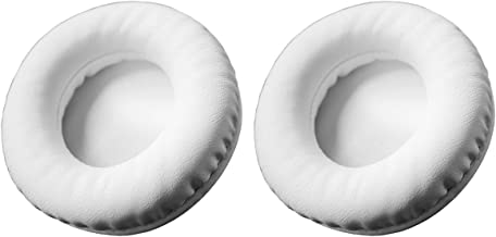 Luxuray Replacement Leather Earpad Ear Pad Ear Cushion Cup Earmuffs Repair Parts for YAMAHA HPH-200WH HPH200 HPH-200BK HPH200BK Headphones (White)