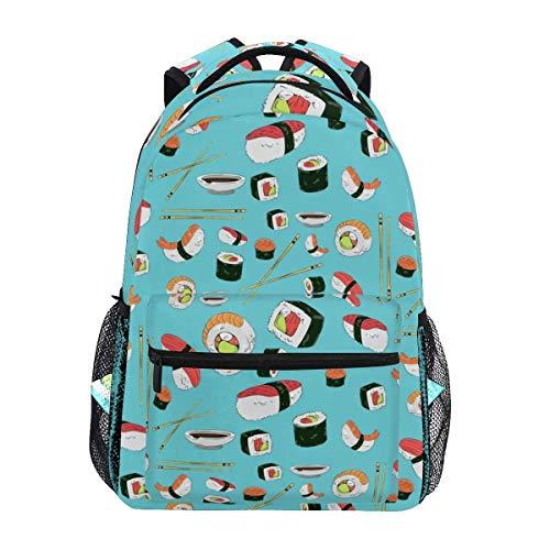 Backpack Sushi Stylish Backpack Gift Student Lightweight Unique School Travel College Shoulder Bag Casual Bookbag Durable Printed