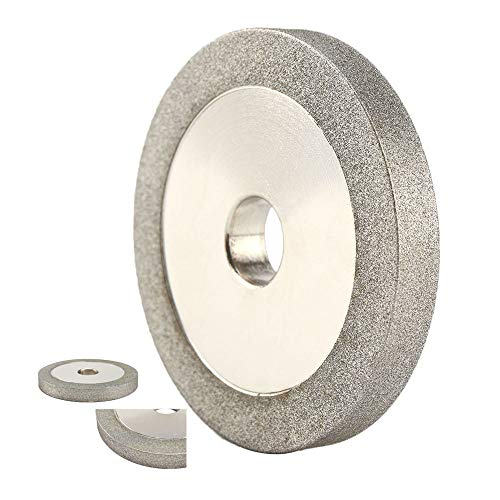 3''x 1/2''x 3/5'' Flat Diamond Grinding Wheel Grit 150 Grinding Hard Alloy Cutter, Glass, Tiles and Ceramics for Grinder Cutter Tool,78x12.7x10mm