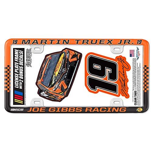 WinCraft Martin Truex Jr 2020 Plastic License Plate Frame/Decal 2-Pack Set NASCAR
