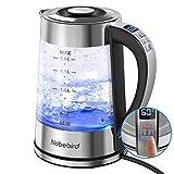 Bouilloire Électrique en Verre de 1,8 L, 2000W Bouilloire Sans BPA à Températures Ajustables, 1-24H pour Garder au Chaud et à...