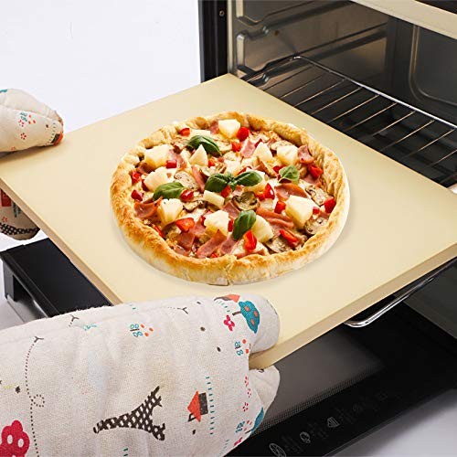 Large Pizza Oven Stone for Oven and Grill , Baking Stone for Bread and Best Crispy Crust Pizza, Bread Baking, Cooking Stone Pizza Pan Easy to Clean 15x12 inch 5/8 inch Thickness, square pizza stone