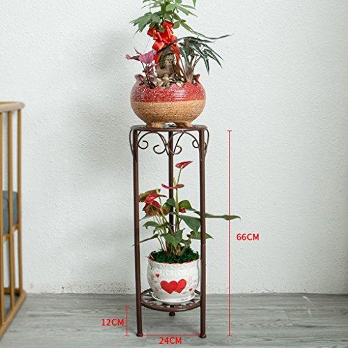 QFF Cadre de fleurs multi-couches simple et élégant en Europe Ensemble de salon en marbre au salon au sol ( Couleur : Marron )