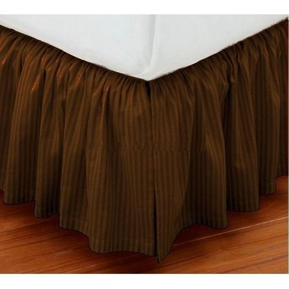 酸素近々ブランドVivaciousコレクションホテル品質800tc Pure綿ほこりフリル付きベッドスカート22?