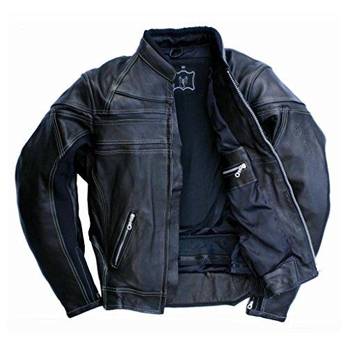 """Skorpion """"Roadstar"""" Freizeit- und Motorradlederjacke aus Glattleder für Chopper und Biker in schwarz, Gr.: 60"""