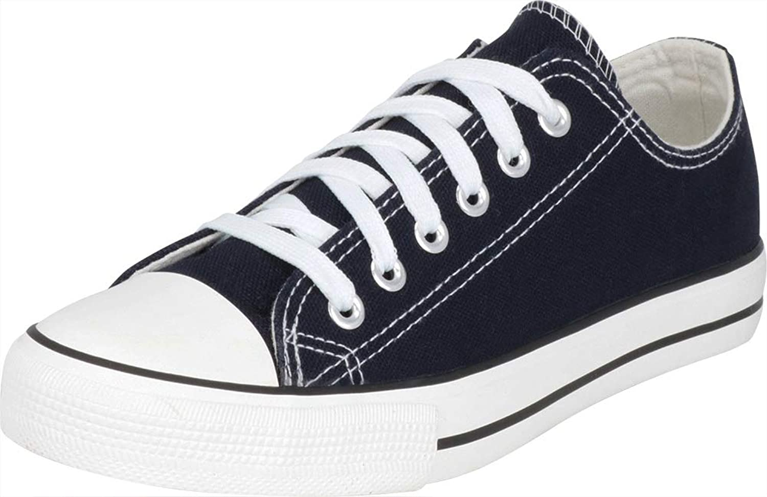 Cambridge Select Women's Classic Low Top Cap Toe Canvas Lace-Up Fashion Sneaker