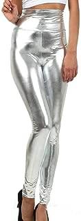 Women's Sexy Shiny Leggings Wet Look Metallic Waist Legging