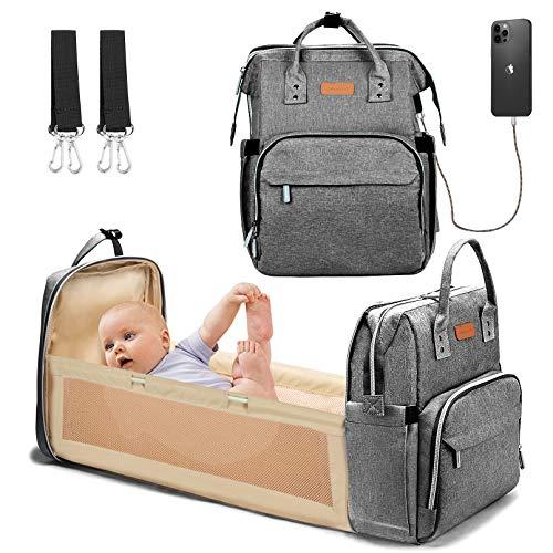 Baby Changing Bag Backpack Multifunctional Diaper Bag Nappy Changing Bag...