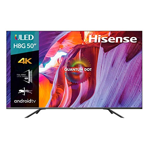 Hisense 50H8G Serie 8 ULED Quantum Dot Series, 50' 4K UHD, Smart TV, Bluetooth (Solo Audio) Google Assistant,Android TV, Compatible con Amazon Alexa HDR10, (2020) (50')...