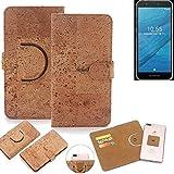 k-s-trade® copertura del sughero guscio protettivo per fairphone fairphone 3 custodia 360° 1x