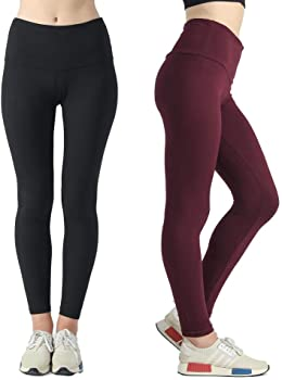 2-Pack Sweetaluna High Waist Yoga Stretch Workout Women's Leggings