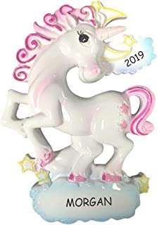 DIBSIES Personalization Station Personalized Unicorn Kids Christmas Ornament (Whimsical)