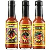 Jamaican Choice Extreme Hot Pepper Sauce Gift Set, Carolina Reaper, Ghost Pepper, Scorpion Pepper | 5 Oz (3-Pack)