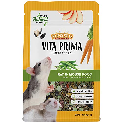 Sunseed Vita Prima Complete Nutrition Rat & Mouse Food, 2 LBS