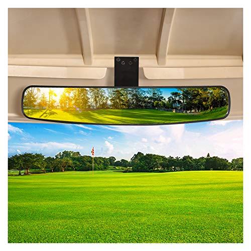 10L0L Panoramic Convex Golf Cart Mirror for EZGO, Club Car, Yamaha, Golf Cart Rear View Mirror