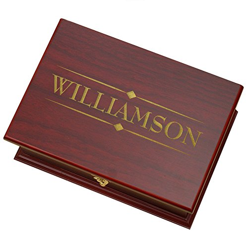 Engraved Family Tea Box, Rosewood, 9' x 6.25' x 3.75'