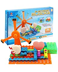FUN STEM EDUCATIONAL TOYS - Teach your son or daughter science and engineering, specifically how electricity is conducted with Pantheon's lighted brick circuit kit! The original electronic circuit kit built to be educational AND fun. OVER 600 PROJECT...