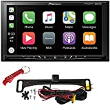 Pioneer MVH-AV251BT Stereo Safe Driver's Bundle with Voxx Backup Camera. Multimedia 7' Receiver with Apple CarPlay, Android Auto, Bluetooth, SiriusXM Ready, Hi Res Touch Screen