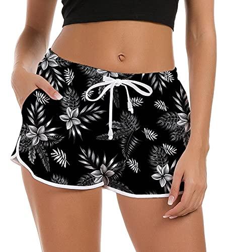 NEWISTAR Damen Badeshorts Kurze Badehose Schnell Trocknendes Strand Wassersport Sporthose für Yoga Sport Jogging