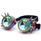 FRAUIT Herren Kaleidoskop Sonnenbrille Bunte Brille Rave Festival Party EDM Sonnenbrille gebeugte...