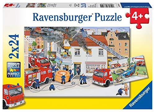 Ravensburger Kinderpuzzle 08851 - Bei der Feuerwehr - 2 x 24 Teile